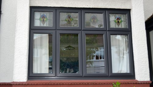 Anthracite grey uPVC casement window