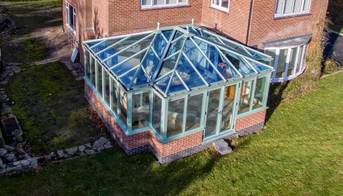 Chartwell Green T-Shaped conservatory