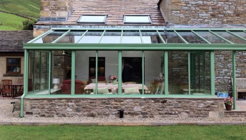 uPVC chartwell green lean to consevatory