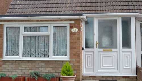 White uPVC entrance porch