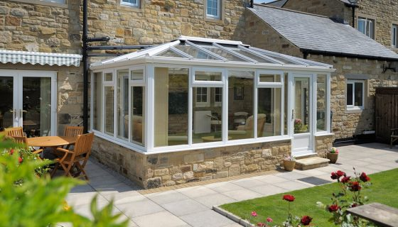 White uPVC Georgian Conservatory