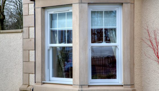 uPVC white vertical slider