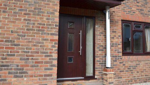 Rosewood entrance composite door