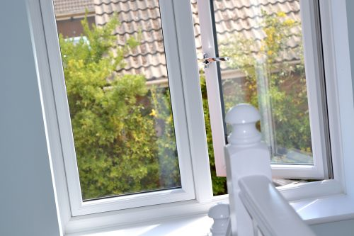 Flush Sash window - internal - white