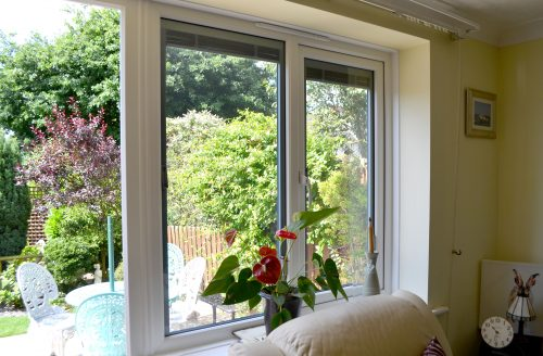 uPVC Casement Window in White - Internal
