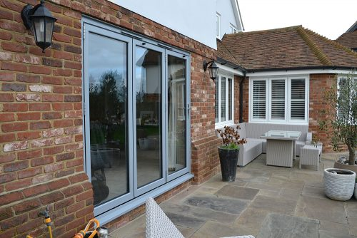 Elephant Grey Bifold Door