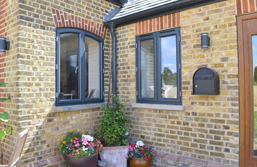 Shaped aluminium windows
