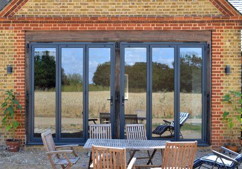 2 x 3 pane Anthracite Grey bi-fold doors