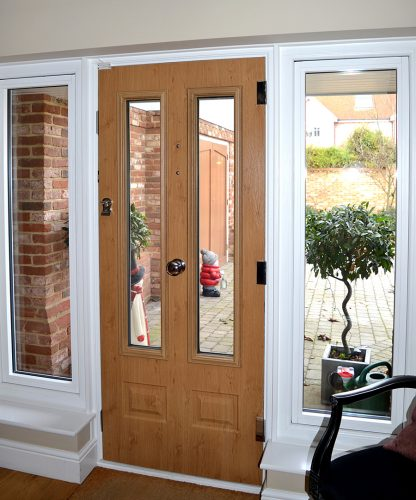 Irish Oak Composite Door Inside