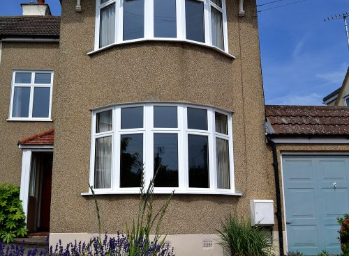 white aluminium bay windows