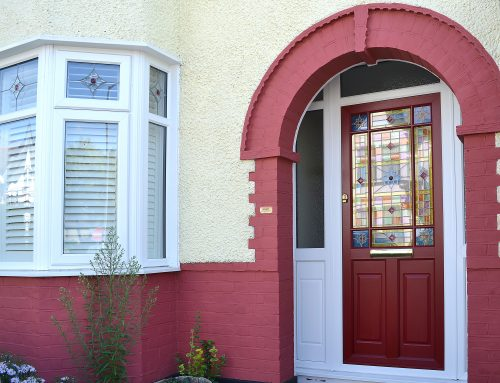 Victorian Door in Ruby Red