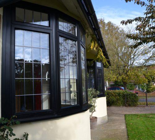 Black Aluminium Bay Windows