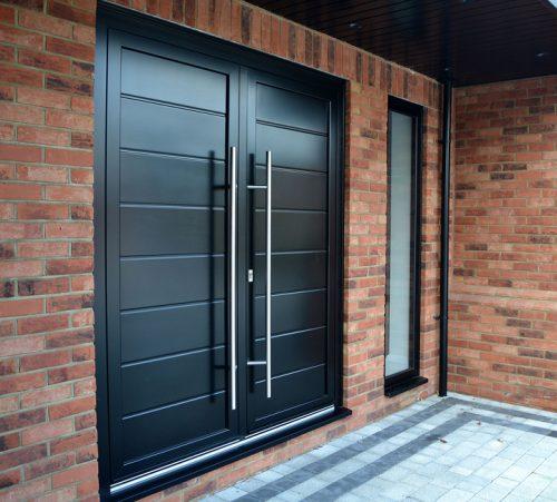 Black Aluminium Double Doors
