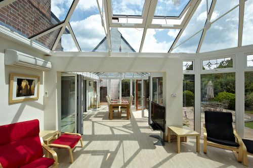 Internal view of large conservatory