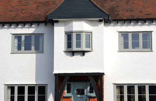 Image of Flush Sash Windows in Pearl Grey